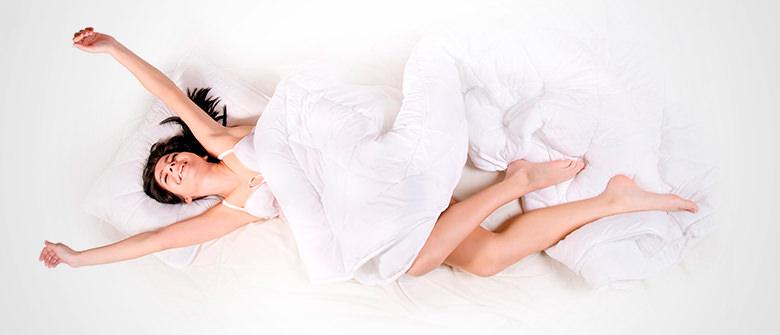 Posição certa ao dormir, menos rugas