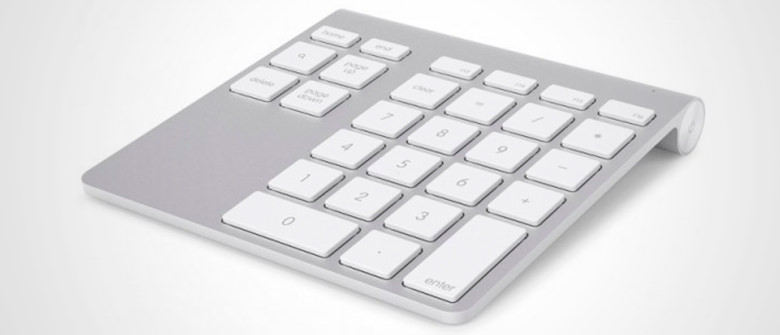 Novo teclado numérico Bluetooth para Mac