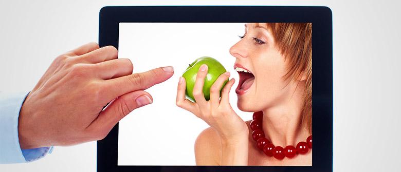 O apelo virtual da comida saudável