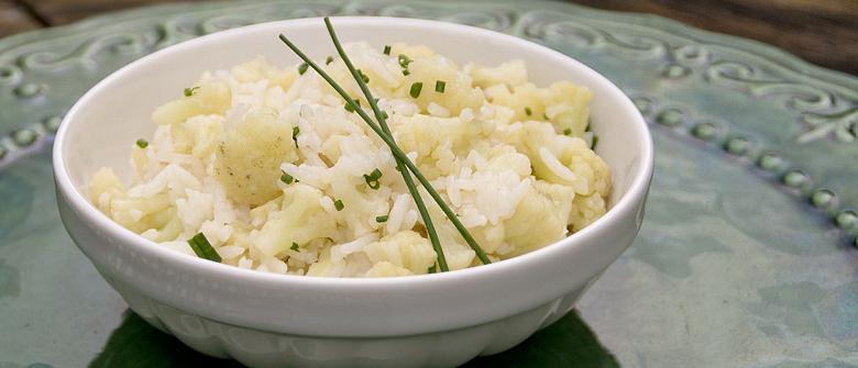 Receita light: arroz com couve-flor