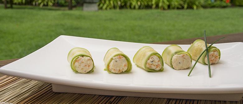 Um milhão de dicas: sushi de ricota e abobrinha