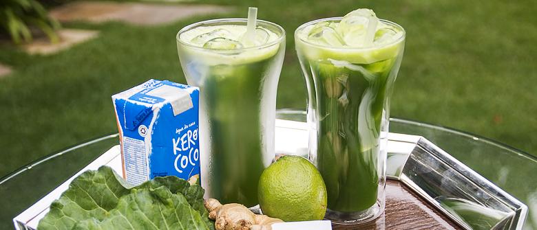 top 5 sucos detox suco verde com água de coco