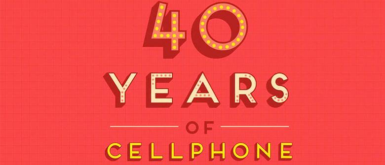 Os 40 anos dos celulares