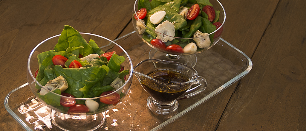 Salada rápida de espinafre