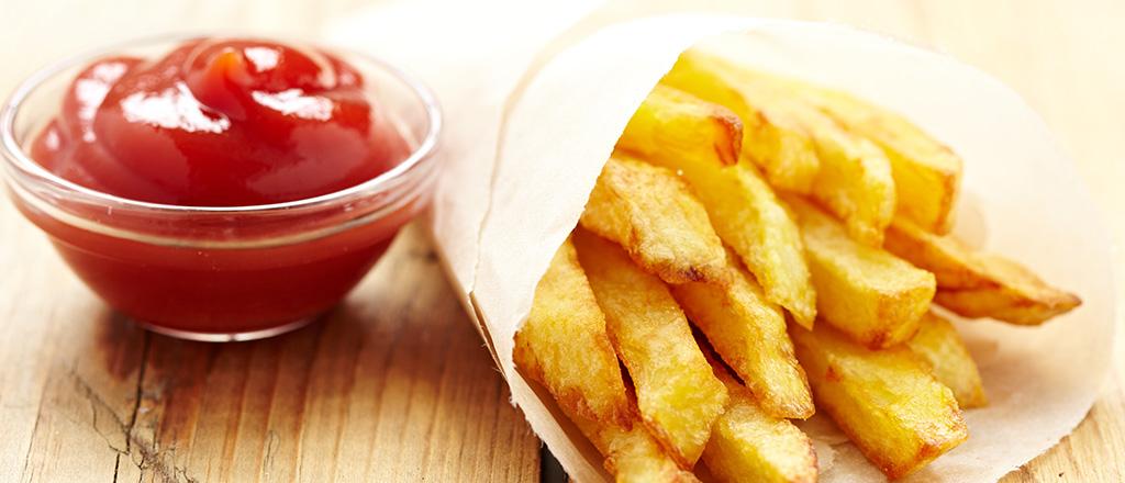 Batata frita e ketchup não substituem vegetais