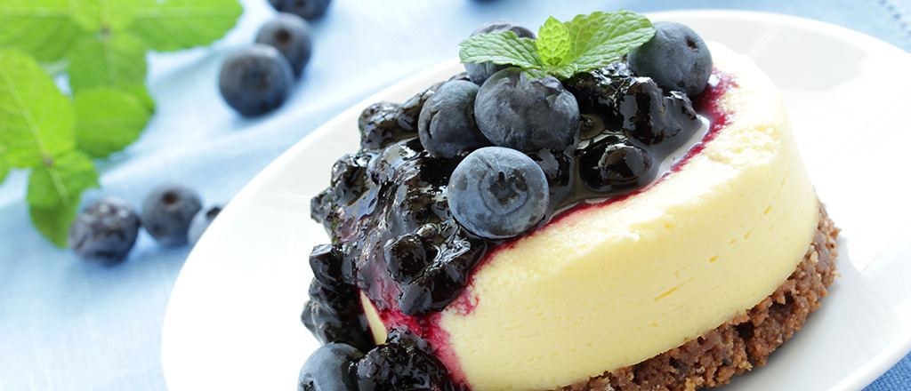 Mini-cheesecake com frutas