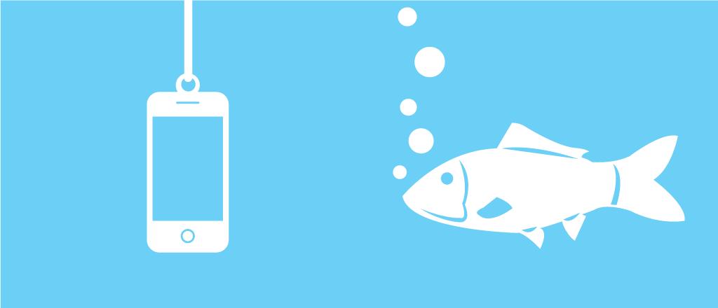 Caiu no app é peixe