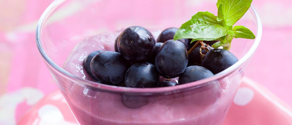 Pudim leve de uva