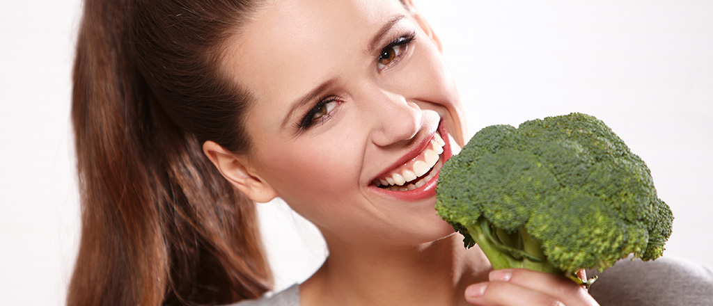A felicidade está no brócolis