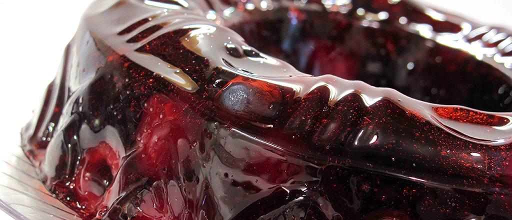 Gelatina com frutas vermelhas