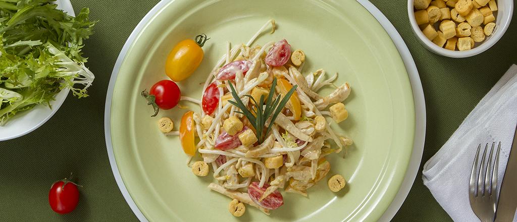 salada para dieta à noite