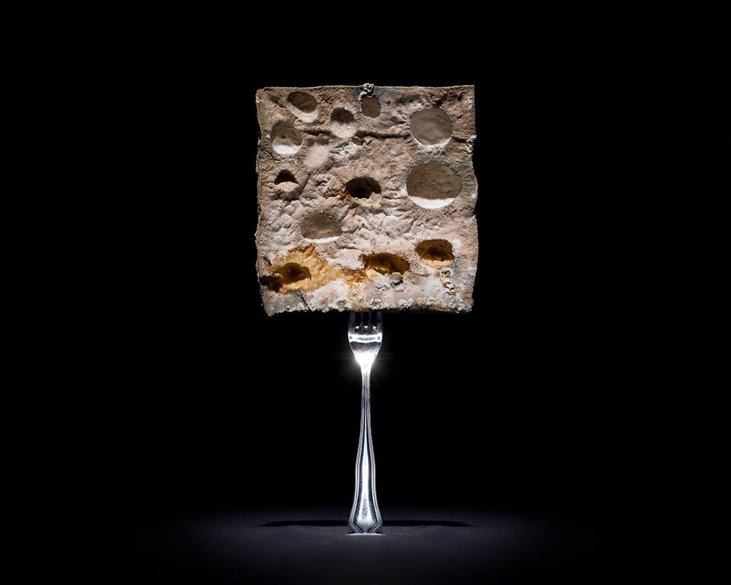 O desperdício de um terço queijo