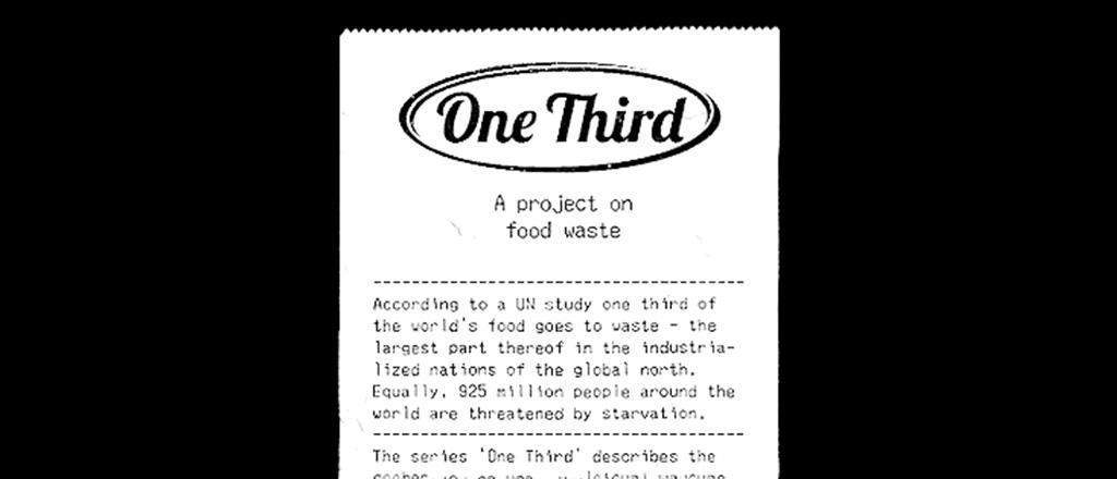 O desperdício de um terço