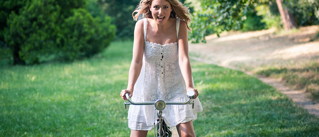 a felicidade vem de bike