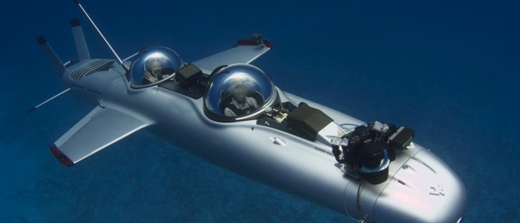 ostentando até debaixo d'água