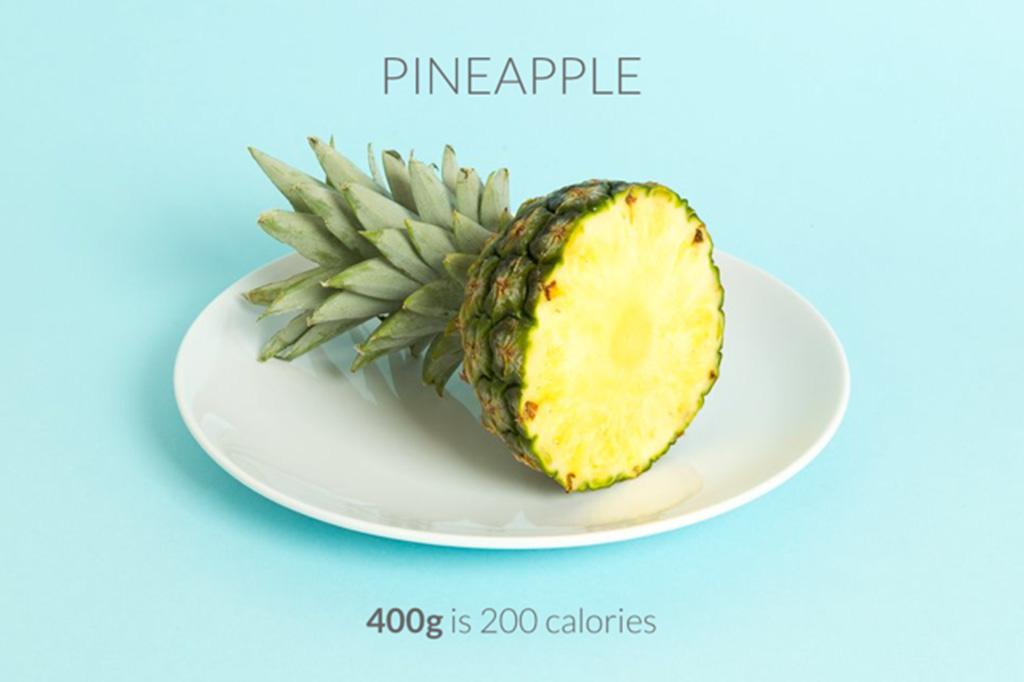 Enxergando as invisíveis calorias de um abacaxi