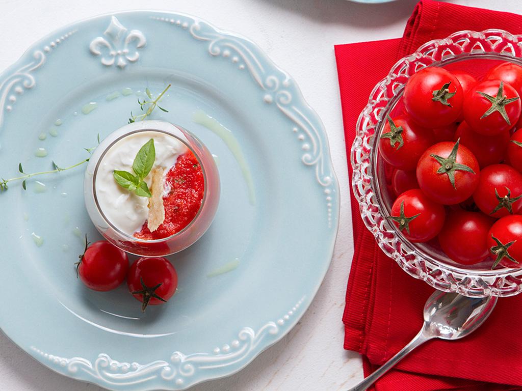 Verrine de tomates