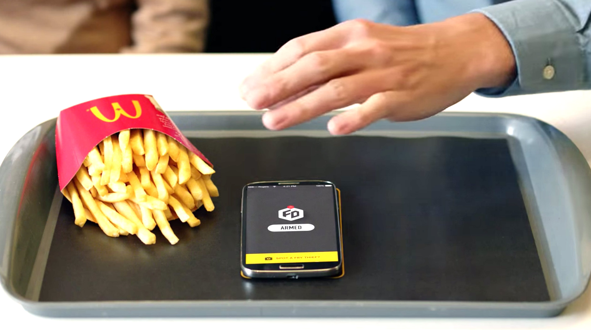 App do McDonald's protege fritas