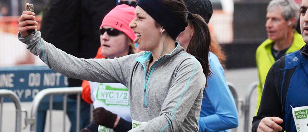 A maratona das selfies