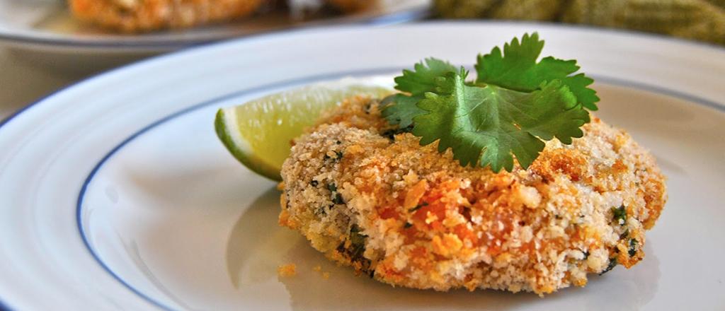 Bolinho japonês de camarão
