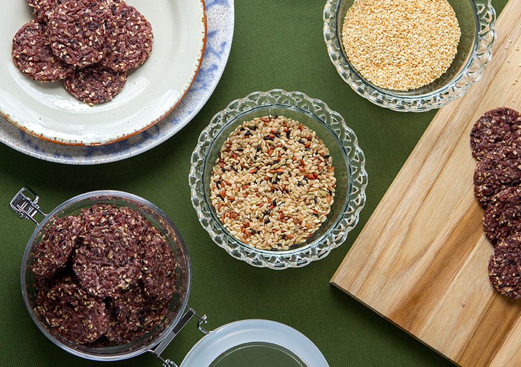 Biscoito de arroz multigrãos