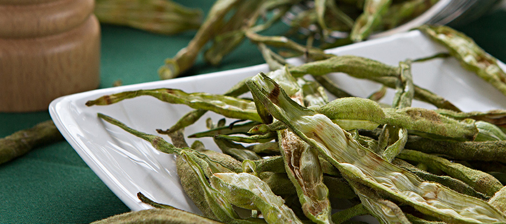 chips de quiabo