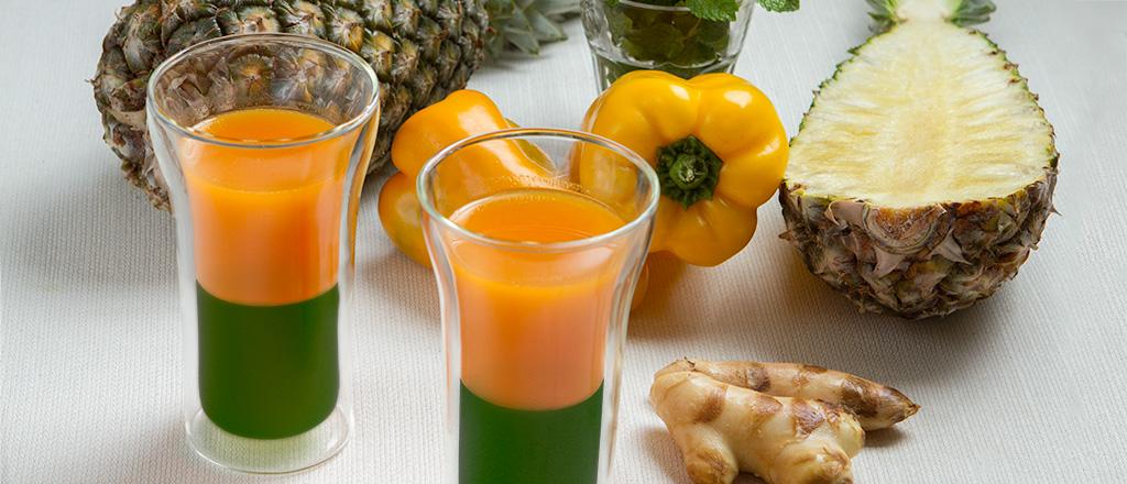 Detox verde-amarelo