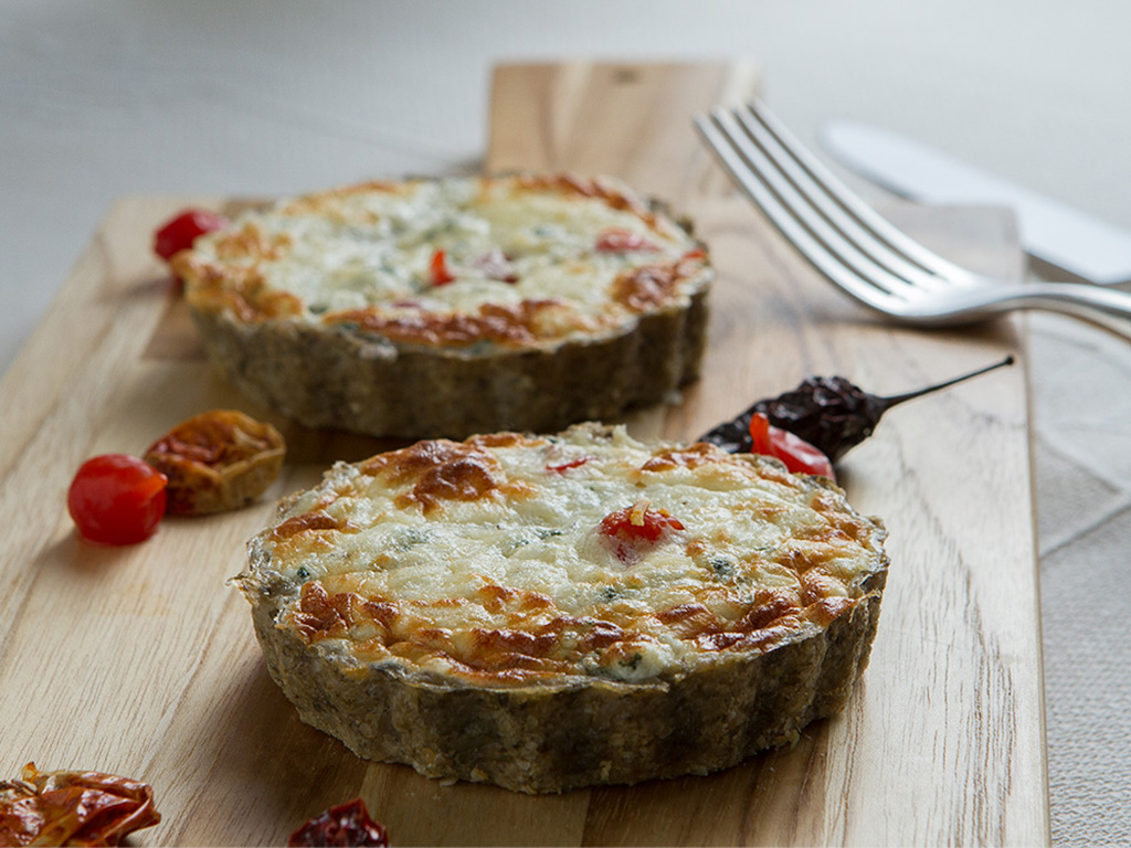 Quiche light de espinafre