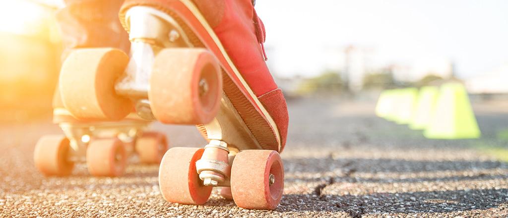 A vida sobre patins