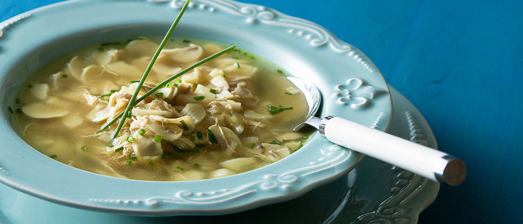 Sopa de champignon com frango
