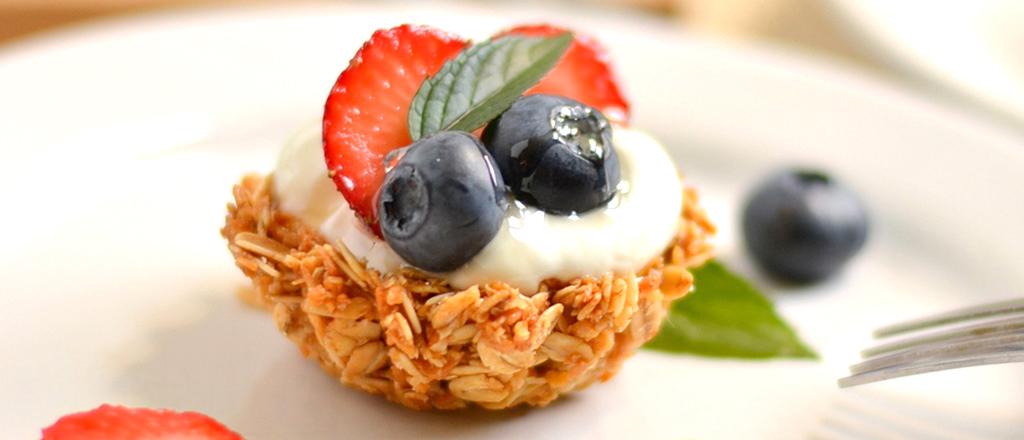 Torta de granola e iogurte