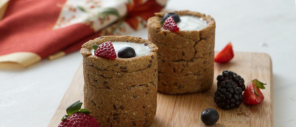Copos de cookies