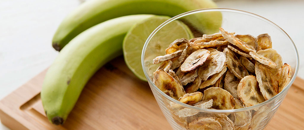 Snack saudávek: chips de banana verde