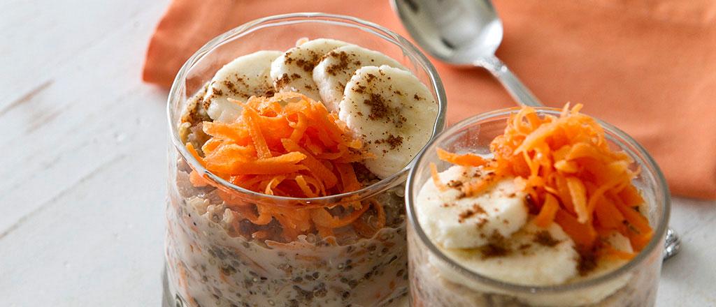 Creme de chia e quinoa com cenoura