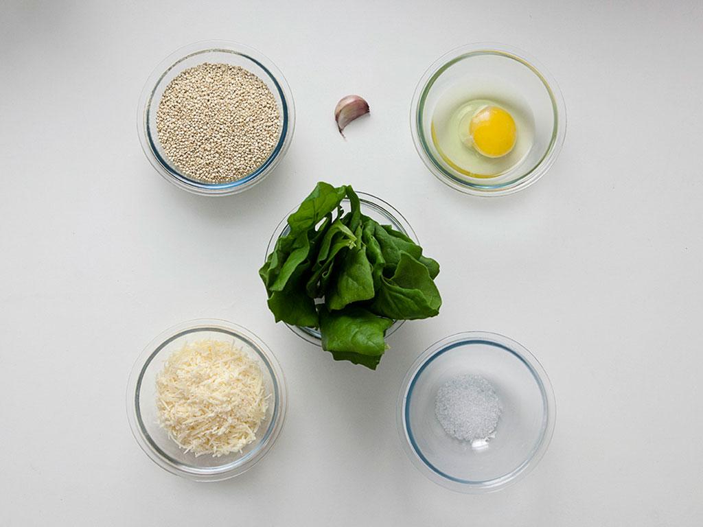 muffin-de-quinoa-e-espinafre-ingrediantes