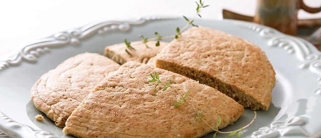 Pão multigrãos de frigideira