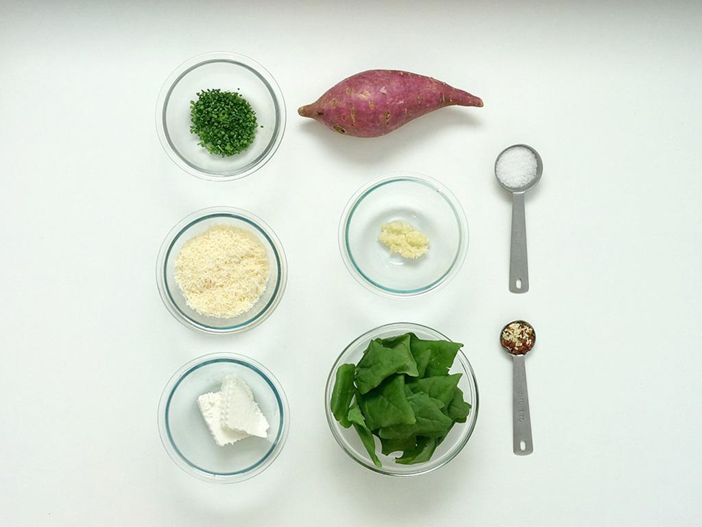 ninho-de-batata-doce-espinafre-ingredientes